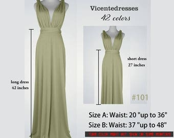 Bridesmaid dress,Sage green Infinity Dress, long dresses sage green, wrap dress, Maid of honor dress, party dress Evening dress