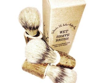 Elk Antler and Badger Hair Shave Brush (available for wholesale)