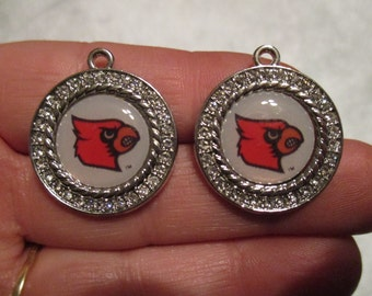Set of 2 Louisville Cardinals Charms