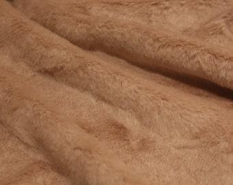 Blush Pink Bunny Shag Faux Fur Fabric