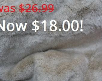 Champagne Rabbit Faux Fur Fabric