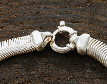 925 Silver Spring Snake Necklace Ladies
