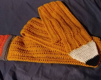 Handmade crochet pencil scarf