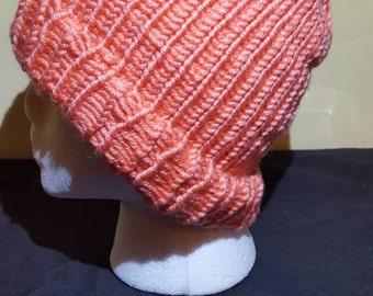 Peach Skull Cap adult/teen hat