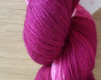 100g 4 Ply 75 Merino/25% Mulberry Silk Luxury Hand Dyed Yarn