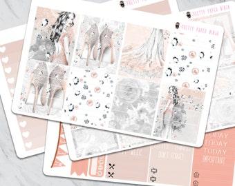 All That Sparkles Set (Four Sheets with stickers to fit EC, Kikki K, Filofax, Etc)