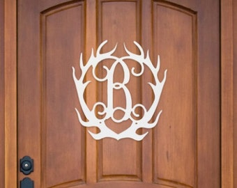 Wooden Monogram, Door Hanger, Monogrammed Gift, Housewarming Gift, Easter Door Hanger, Deer Door Hanger, Snow flake Door Hanger, Home Decor