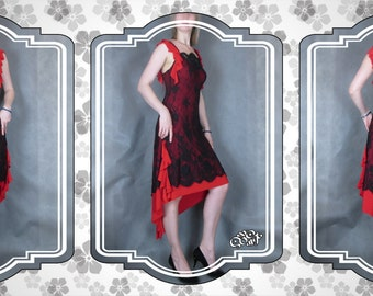 Tango dress with lace. Latin dance dress for competitions and performances. Original handmade. Made in a single copy. Free shipping