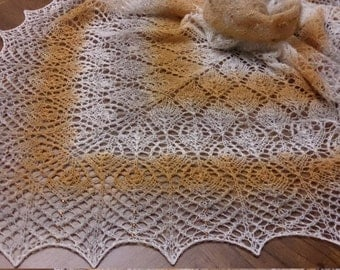 Hand-knit Lace Shawl ,Scarf Wrap Poncho Wedding accessories Women's gifts