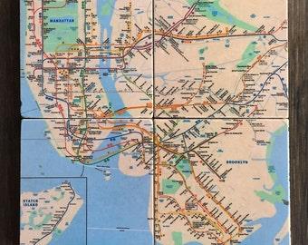 Nyc Subway Etsy - Nyc metro map