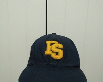 Rare Vintage POLO SPORTS Ralph Lauren Big Logo Spell Out Embroidered Cap Hat Free size fit all