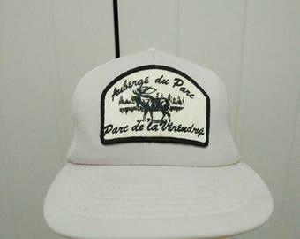 Rare Vintage AUBERGE du PARC CANADA Moose Cap Hat Free size fit all