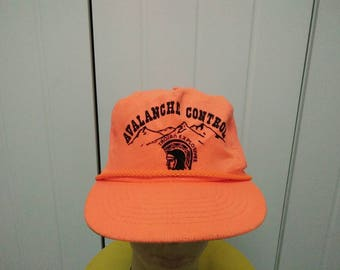 Rare Vintage AVALANCHE CONTROL Trojan Explosives Cap Hat Free size fit all