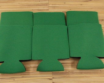Kelly Green, Blank can coolies, free shipping