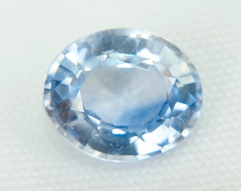 Shimmering Natural Ceylon Blue Sapphire Oval Cut 1.20Ct