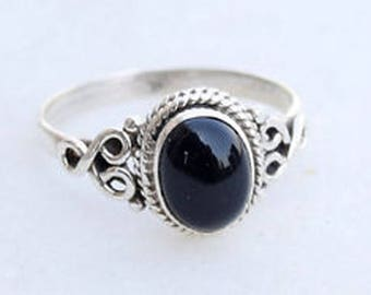 Black Onyx ring,Black Onyx Silver Ring, Silver Black Onyx Ring,925 solid sterling Silver Ring, Sterling Silver Ring, size 3-12(USA Standard)