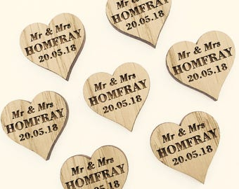 personalised wooden hearts wedding favor love heart favours wooden wedding hearts - rustic wedding favours - wedding table decorations 15TD