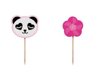 Panda Party Decorations, Panda Birthday Decorations, Panda Party, Panda Party Decor, Panda Birthday Party, Panda Cupcake Toppers