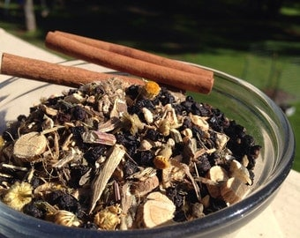 Make your own elderberry syrup herb mixture