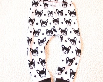 Boston Terrier Leggings - Black and White leggings - Baby/Toddler Pants - Hipster baby