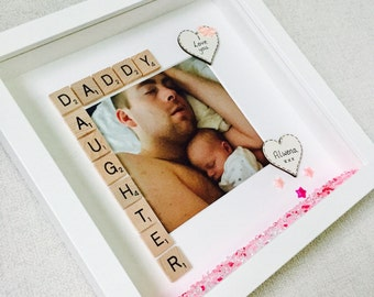 Best Daddy Gift, Daddy Frame, Dad Birthday Gift, Personalised Dad Birthday Frame, Dad Picture Frame, Fathers Day Frame, Best Dad Box Frame