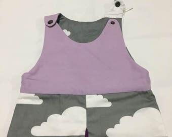 Purple Cloud Sleep Sack (Purple, Mauve, Grey, Gray, Cloud, Weather, Sky) Sleeping Bag, Bunting Bag, Crib Blanket