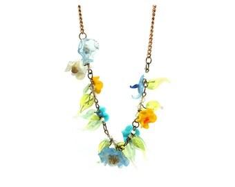 Vintage 1930s Necklace | Venetian Necklace | Murano Necklace Glass Necklace | Flower Necklace | Statement Necklace | Vintage Necklace