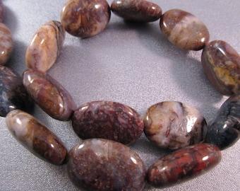 Brown Pietersite Oval Beads 16pcs