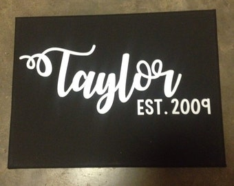 Last name established date decal #2