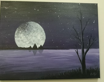 Purple Night Landscape