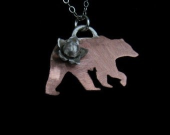Sterling And Copper Necklace