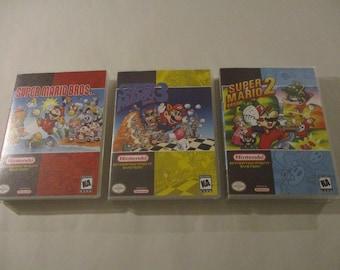 Super Mario 1 2 3 Pack Custom NES - Nintendo Cases Only (NO GAMES)
