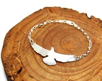 Eagle bracelet.Bird bangle.Falcon.Bird bracelet.Flying bird bracelet.Bird jewelry.Bird charm.Wild bird jewelry.Hawk bracelet.Eagle scout