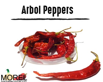 Dried Arbol Chili Peppers (Chile de Arbol) / WT: 2 Oz, 4 Oz, 8 Oz, 12 Oz, & 1 Lb