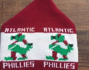 Vintage 80's Phillie Phanatic Promotional Giveaway Winter Hat