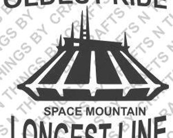 Space Mountain SVG and DXF