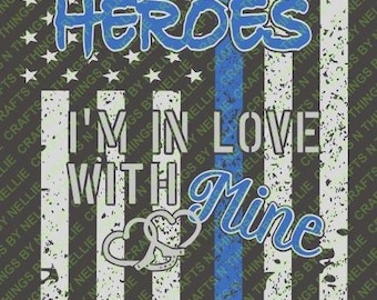 Heroes in Love with Mine SVG
