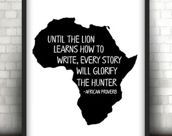 African Proverb Wall Art | Digital Download