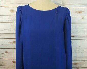 80' s Royal blue church dress, XL