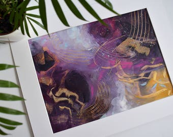 Genesis. Large Abstract Painting. Original. Modern Art. Contemporary Abstract Painting. Pink. Purple. Gold. Canvas Wall Art. Home Decor.