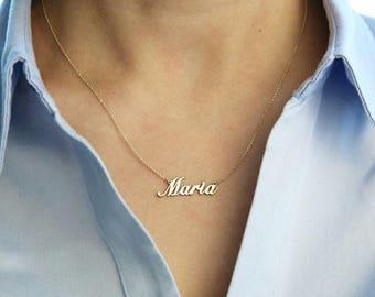 14 k gold necklace etsy