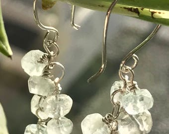 Aquamarine Bubbles Earrings