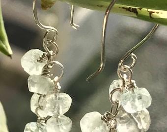 Aquamarine Bubbles Earrings