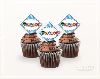 CALLING ALL SUPERHEROES Cupcake Toppers printable