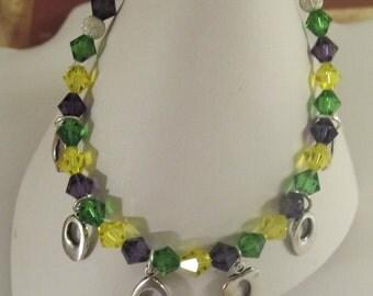 Mardi Gras Swarovksi Crystal Bracelet