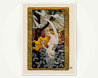 Paul Emile Berthon Illustration - Le Livre de Magda - Art Nouveau  Poster Art