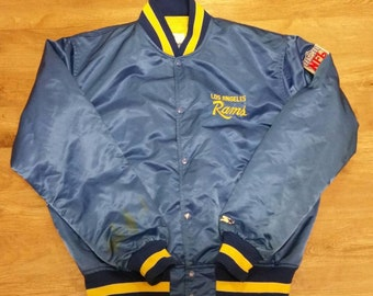 LA Rams starter jacket,90s, vintage starter jacket,used, satin jacket