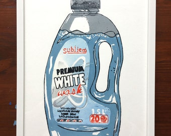 Whitewash print
