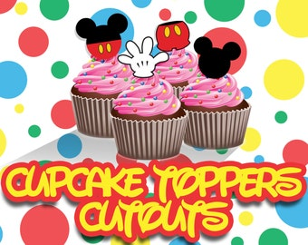 Dozen Mickey Mouse Cupcake Toppers