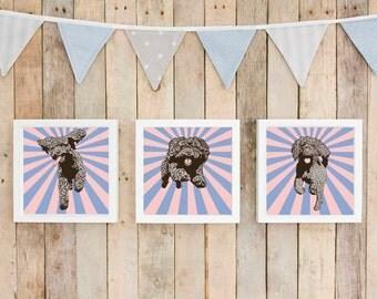 Positive vibes cockapoo art, large loft wall art, cockapoo pop art, dog mom gift,  gift for her, hip dog art, modern dog artist UK